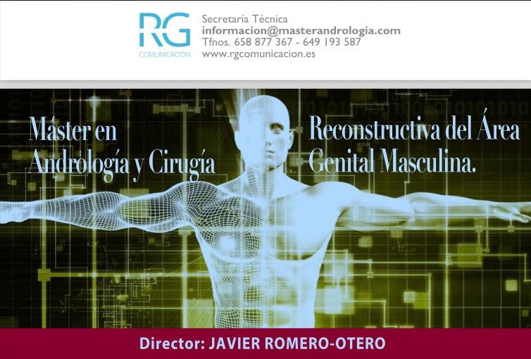Máster en Andrología y Cirugía Reconstructiva del Área Genital Masculina.   1 de abril -30 octubre 2021